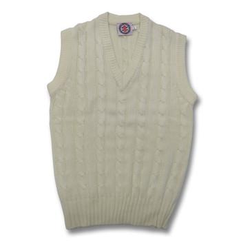 GRAY-NICOLLS slipover sleeveless cricket  sweater [white]