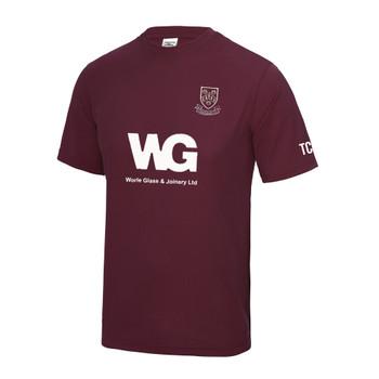 EGGCATCHER performance training t-shirt [maroon] CHEDDAR CRICKET