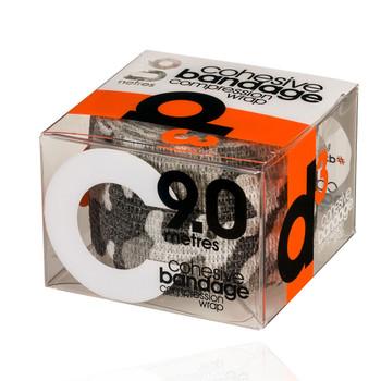 D3-R13 cohesive bandage compression wrap tape (single) 50mm x 9m [grey camo]