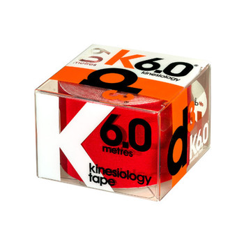 D3 kinesiology tape K6.0  (single) 50mm x 6m [red]