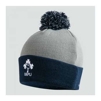 CCC ireland rugby acrylic bobble Hat [static grey]