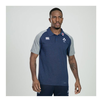 CCC Ireland rugby Vapodri Cotton Pique Polo [blue marl]