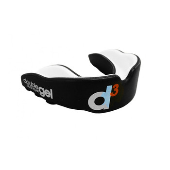 D3 double gel dual layer rugby mouthguard [black] - Adult