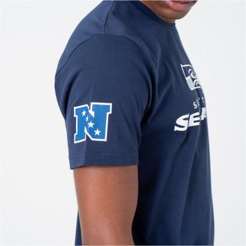 NEW ERA seattle seahawks logo NFL t-shirt [navy]