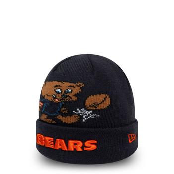 NEW ERA chicago bears NFL mascot kids cuff knit hat [navy]