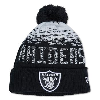 NEW ERA las vegas raiders sport knit bobble hat [black/grey]