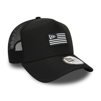 NEW ERA flagged USA 9forty adjustable trucker cap [black]