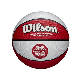WILSON basketball england clutch MINI basketball [white/red]