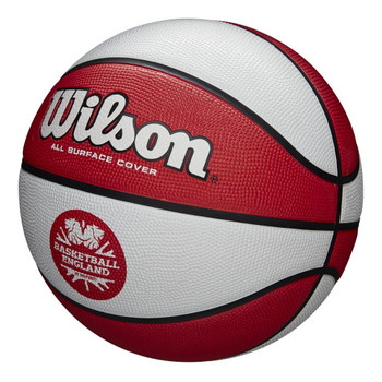 WILSON basketball england clutch MINI basketball [white/red]