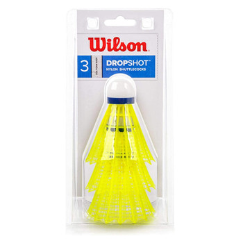 WILSON dropshot club grade nylon shuttlecocks x 3 [yellow]