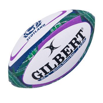 GILBERT scotland tartan mini rugby ball [white/tartan]