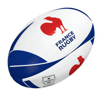 GILBERT france supporter rugby ball 2020 [white/blue] size 5