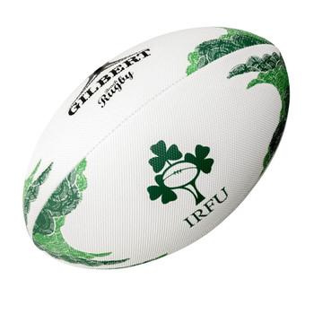 GILBERT ireland beach rugby ball [white/green]