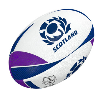 GILBERT scotland supporter rugby ball [white/purple] size 5