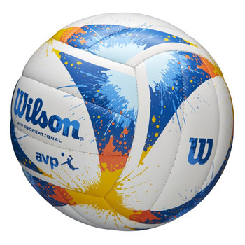 WILSON splatter AVP outdoor/beach volleyball [white/blue/yellow]