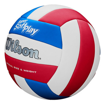 WILSON super soft play volleyball [white/red/blue]