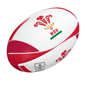 GILBERT wales supporter rugby ball [white/red] size 5