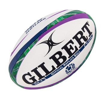 GILBERT scotland tartan official rugby ball size 5 [white/tartan]