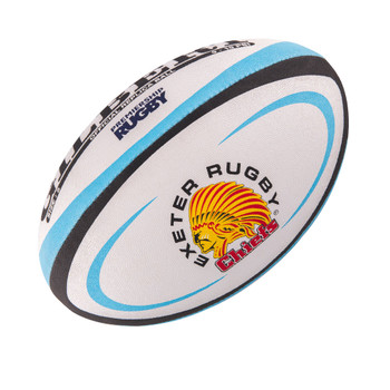 GILBERT exeter chiefs mini rugby ball [white/sky/blk]