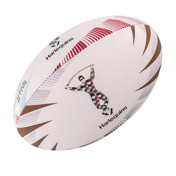 GILBERT harlequins supporter rugby ball [size 5]