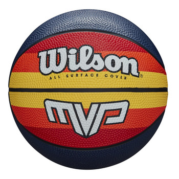 WILSON MVP retro basketball size 7 [blk/orange/yell]