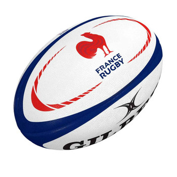 GILBERT france replica rugby ball size 5 [white/blue]