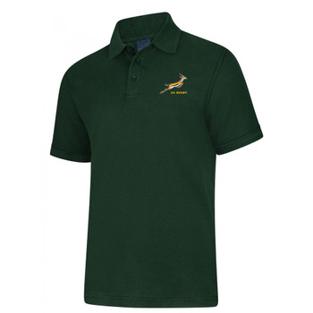 south africa springboks rugby pique polo [green]
