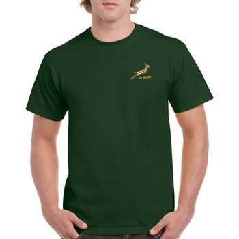 South Africa Rugby cotton supporters t-shirt [bottle green]