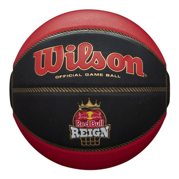 WILSON Red Bull Reign Official Basketball Game Ball size 6 [black/red]