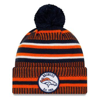 NEW ERA denver broncos NFL sport knit bobble hat [orange/navy]