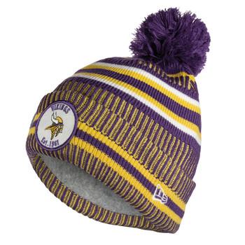 NEW ERA minnesota vikings NFL sport knit bobble hat [purple/yellow]