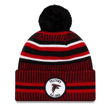 NEW ERA atlanta falcons NFL sport knit bobble hat [dark/white/red]