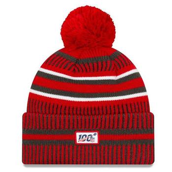 NEW ERA Tampa Bay Buccaneers NFL sport knit bobble hat [dark/white/red]