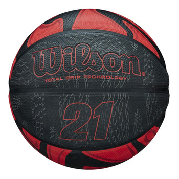 WILSON 21 series basketball [black/red]-Size 7