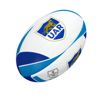 GILBERT argentina UAR supporter rugby ball white/blue [size 5]
