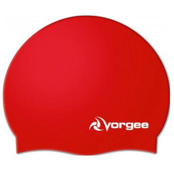VORGEE superflex silicone swim cap [red]