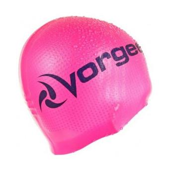 VORGEE supergrip logo silicone swim cap [pink]