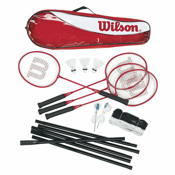 WILSON 4 player Tour Badminton kit [red]