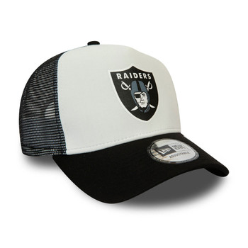 NEW ERA las vegas raiders NFL block trucker cap [black/white]