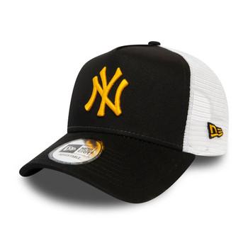 NEW ERA NY yankees adjustable MLB 9forty A-frame trucker cap [black]