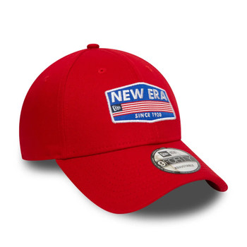 NEW ERA flag USA patch adjustable 9forty cap [red]