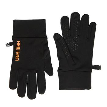 NEW ERA electronic touch cold weather gloves [black/orange] Small/Medium