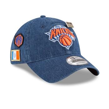 NEW ERA new york knicks 9twenty adjustable NBA basketball draft cap [denim]