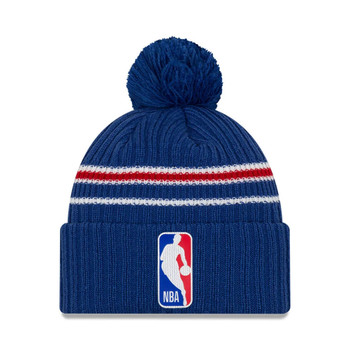 NEW ERA basketball NBA back half knit cuff bobble hat [royal]
