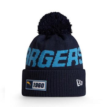NEW ERA LA chargers NFL sport knit bobble hat [navy/sky]