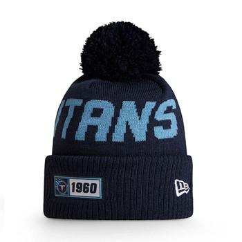NEW ERA tennessee titans NFL sport knit bobble hat [navy/sky]