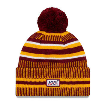 NEW ERA washington redskins NFL sport knit bobble hat [maroon/gold]