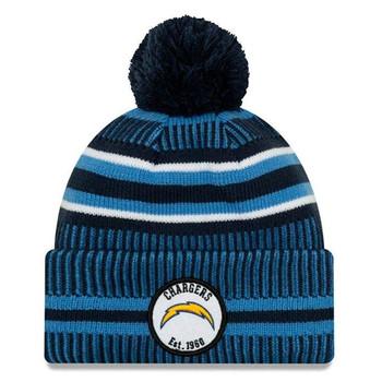 NEW ERA san diego chargers NFL sport knit bobble hat [blue/navy/white stripes]