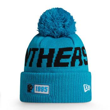 NEW ERA carolina panthers NFL sport knit bobble hat [aqua/black]