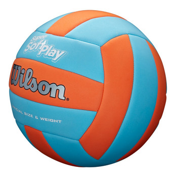 WILSON super soft play volleyball [orange/blue]